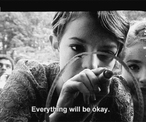 quote, black and white, and skins image