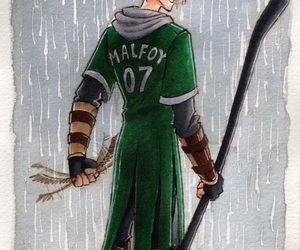 harry potter, slytherin, and malfoy image
