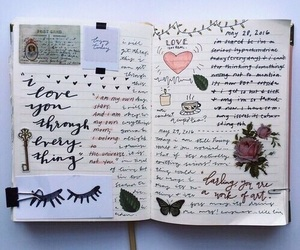 diary, journal, and art image