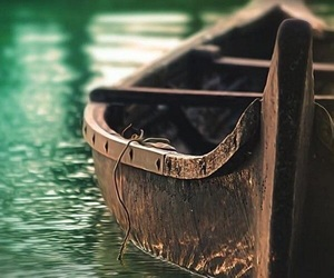 boat, canoe, and water image