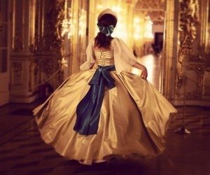 yellow gown, anastasia, and royalty image