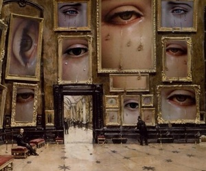 art, eyes, and tears image