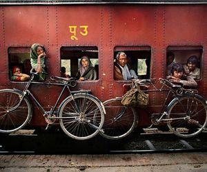 bike, photography, and train image