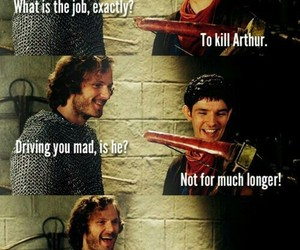 merlin, funny, and arthur image