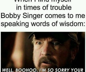 supernatural, bobby singer, and funny image