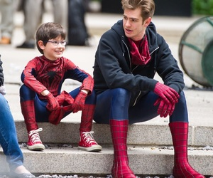 spiderman, andrew garfield, and boy image