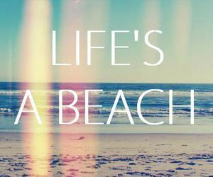 beach, life, and summer image