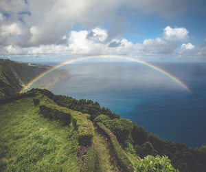 rainbow, nature, and sky image