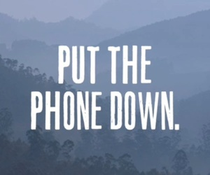 down, phone, and put image