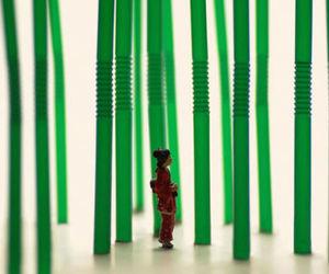 art, miniatures, and plastic straws image