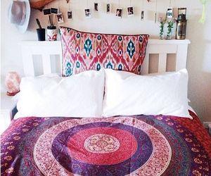 bedroom, decor, and hippie image