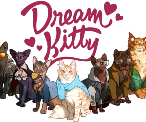 cats, dream daddy, and robert small image