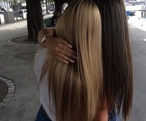 hair, blonde, and friends image
