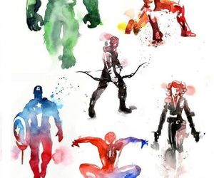 black widow, Hulk, and Marvel image