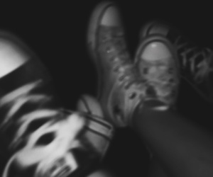 black & white, grunge, and teenagers image
