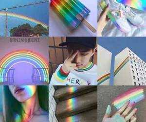 rainbow, bts, and colors image