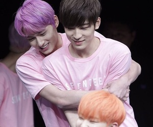 wonwoo, jun, and Seventeen image