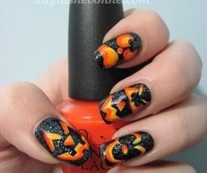 nails, Halloween, and orange image