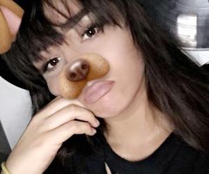 bangs, brown hair, and brunette image