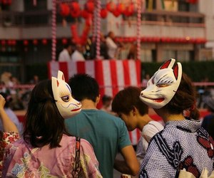 japan, festival, and mask image