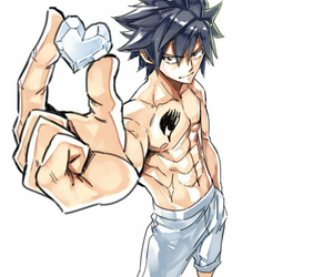 fairy tail, gray fullbuster, and anime image