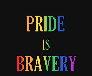 brave, gay, and pride image