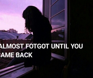 broken heart, come back, and forget image