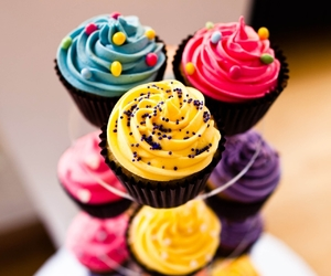cupcake, food, and colorful image