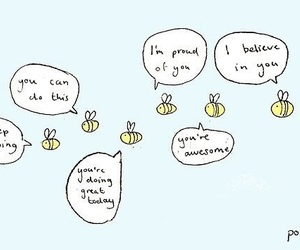 bee and positive image