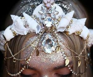 crown, mermaid, and fantasy image