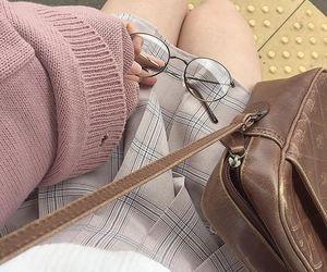 bag, eyeglasses, and grunge image