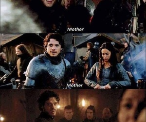 game of thrones, robb stark, and mother image