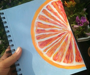 art and orange image