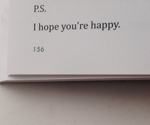 quotes, happy, and book image