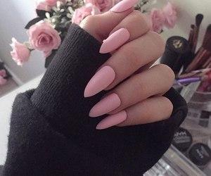 pink, nails, and tumblr image