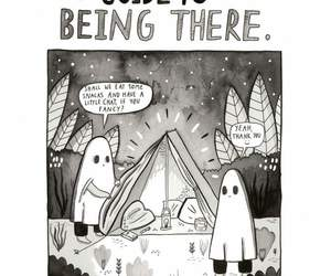 black and white, comics, and being there image