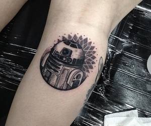 r2d2, star wars, and tattoo image