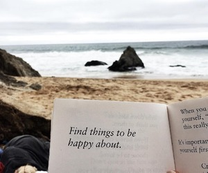 book, quotes, and beach image