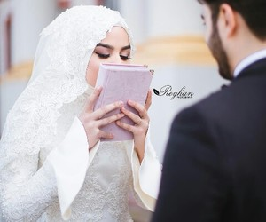 forever, wedding, and muslim couples image