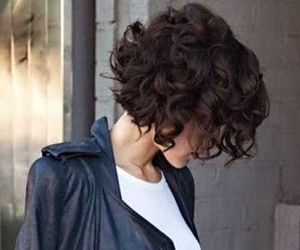 hair, curls, and short image