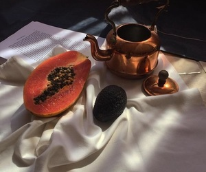 fruit, food, and tea image