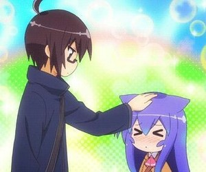 anime, acchi kocchi, and pat head image