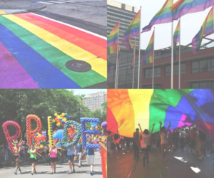 background, pride, and rainbow image