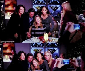 cristina yang, ellen pompeo, and family image