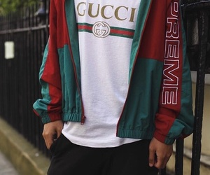 gucci, boy, and supreme image