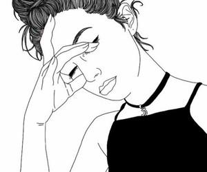 black&white, chic, and draw image