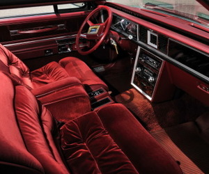 red, vintage cars, and car interior image