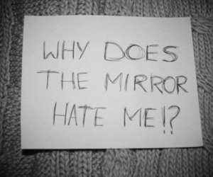 depressed, mirror, and cry image