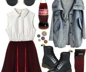 coca cola, fashion, and outfit image