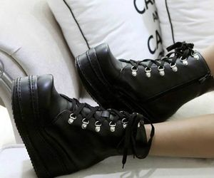 shoes, boots, and goth image